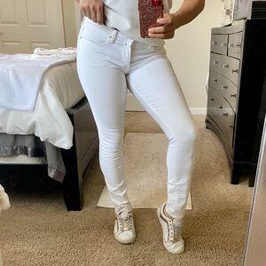 Cute white skinny jeans, DKNY, sz 4